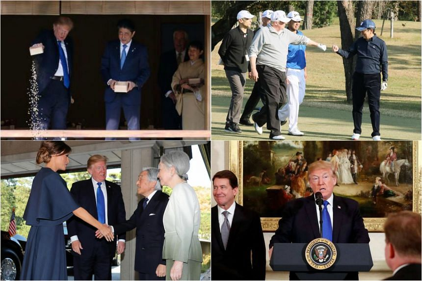US President Donald Trump's key moments from his trip to Japan.