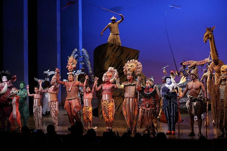 The Lion King's 20th-anniversary performance on Sunday night.
