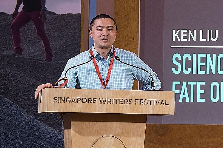 This is the second time science-fiction writer Ken Liu is participating in the Singapore Writers Festival.