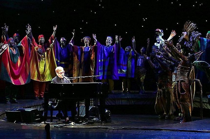 British singer Elton John singing Circle Of Life.
