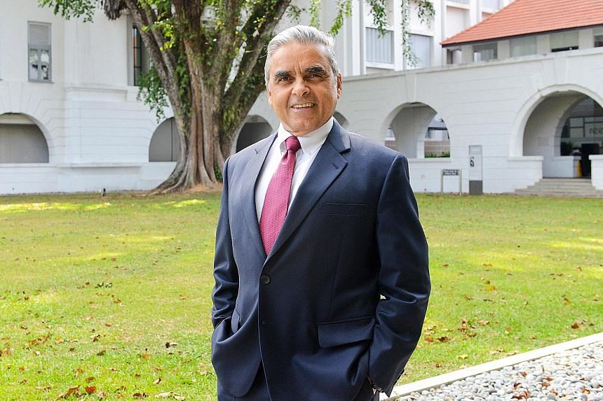 """Professor Kishore Mahbubani said he wanted to """"focus on a new career that involves more time spent on reading, reflection and writing"""" after 46 years in administrative positions."""