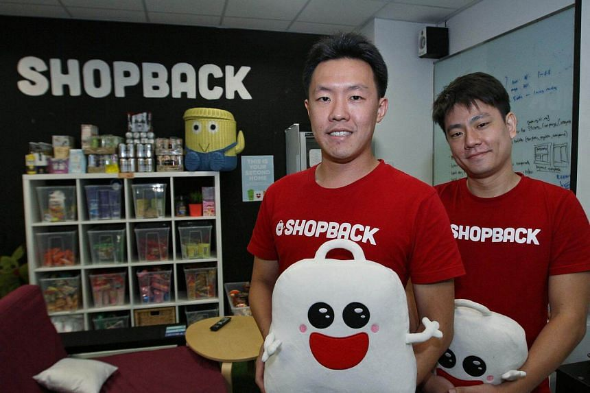 Founders of Shopback, Henry Chan (left) and Joel Leong. Over three and half million consumers across six countries in the Asia Pacific have signed up with ShopBack since the company's inception in 2014.