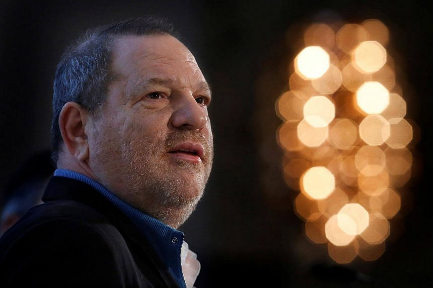 Harvey Weinstein speaks at the UBS 40th Annual Global Media and Communications Conference in New York.