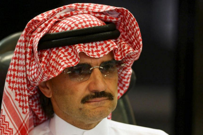 Prince Alwaleed bin Talal's net worth fell to US$17.8 billion after the market value of the Saudi investment firm he founded plummeted US$1.3 billion this week.