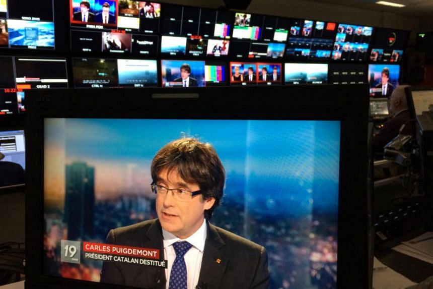 Carles Puigdemont is in Belgium facing extradition on charges of rebellion and sedition.