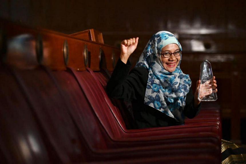 Freelance editorial consultant Nur-El-Hudaa Jaffar, 47, clinched both the first and second prize of the Malay short story category - the first to do so in the award's history.