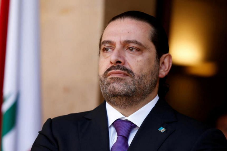 Lebanon's Prime Minister Saad al-Hariri at the governmental palace in Beirut, Lebanon, on Oct 24, 2017.