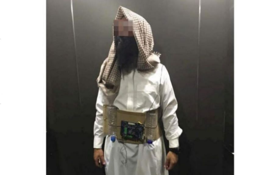 At about 7.40pm, residents at an apartment in Damansara Perdana came across the man who was dressed as a suicide bomber.