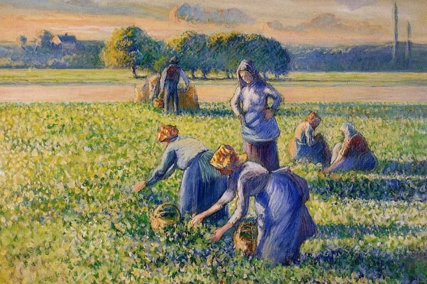 """""""La Cueillette des Pois"""" (Picking Peas) had been at the centre of a dispute with its current owners, American couple Bruce and Robbi Toll, who said they bought it in good faith."""