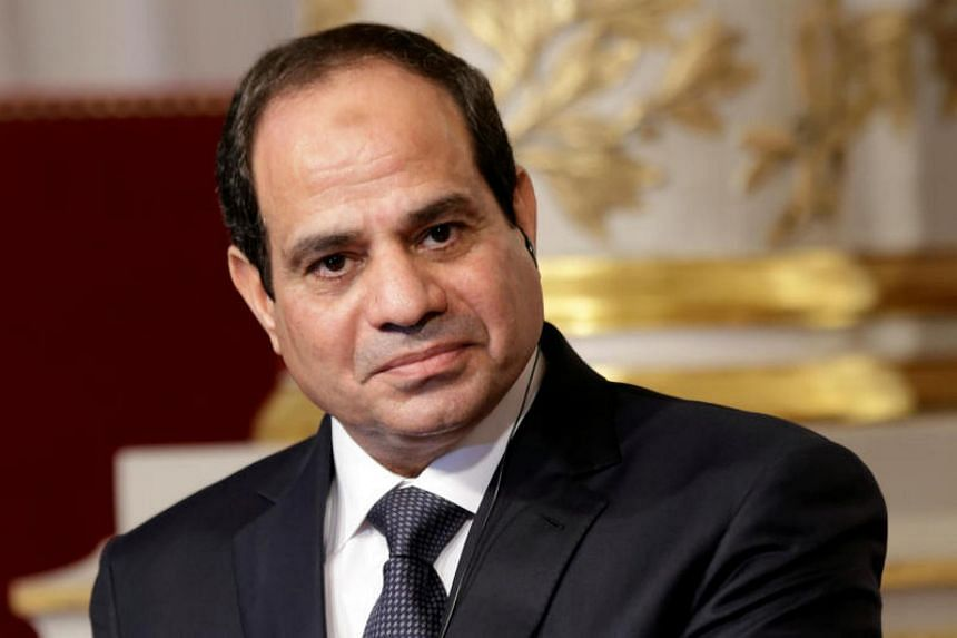 Egyptian President Abdel Fattah al-Sisi delivers a statement following a meeting at the Elysee Palace in Paris, France, on Nov 26, 2014.
