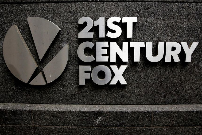 The 21st Century Fox logo is seen outside the News Corporation headquarters in New York.