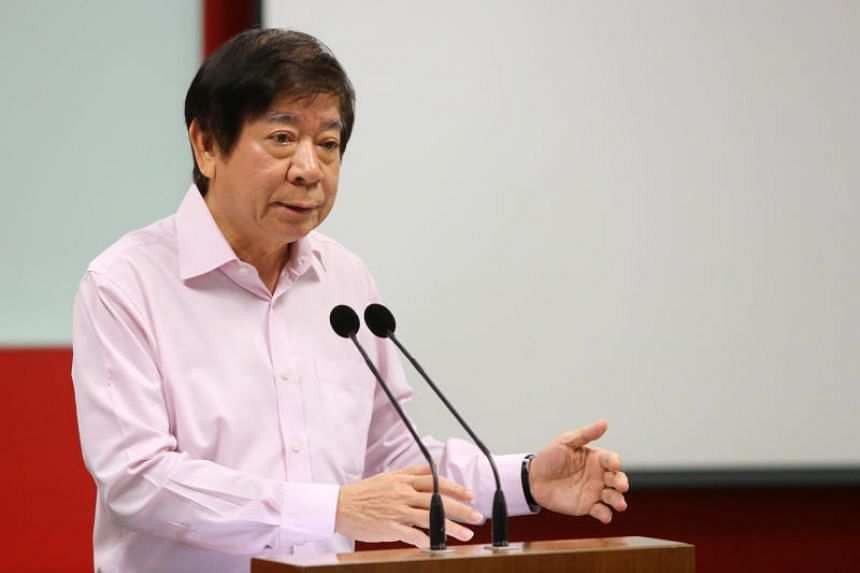 Transport Minister Khaw Boon Wan speaks during the media briefing on the 2017 North-South Line tunnel flooding incident.