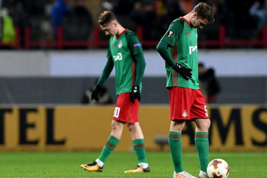 Lokomotiv Moscow's Aleksei Miranchuk (right) and Anton Miranchuk during the Uefa Europa League Group F football match between FC Lokomotiv Moscow and FC Sheriff.