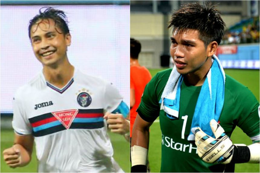 National skipper and forward Shahril Ishak (left) and goalkeeper Izwan Mabhud have been used only sparingly by coach V. Sundram Moorthy since he took over the reins in May 2016.