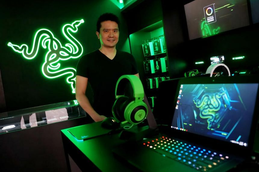 Razer co-founder and CEO Tan Min-Liang in the gaming device maker's concept store in Hong Kong.