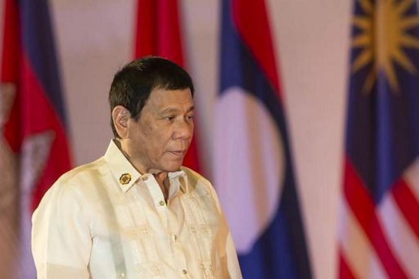 Philippine President Rodrigo Duterte attends during the closing ceremony of Asean and handover of the Asean chairmanship to the Philippines in Vientiane on Sept 8, 2016.