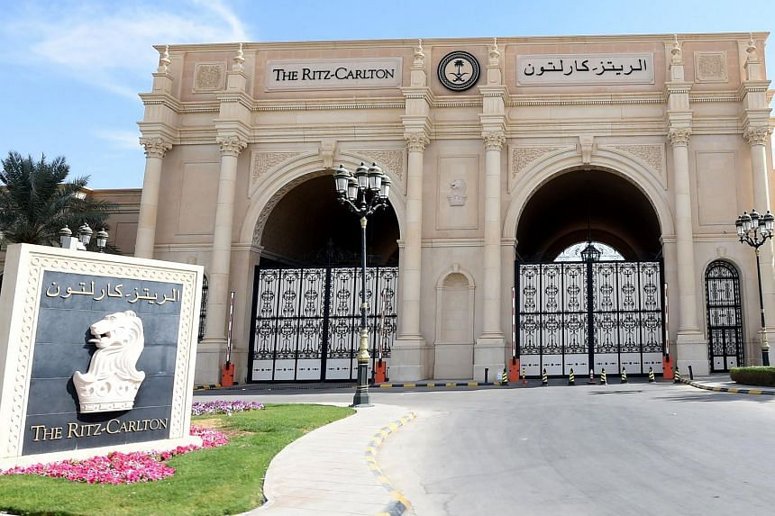 The Saudi princes arrested in the high-profile purge by King Salman bin Abdul Aziz are detained in a large function room at Ritz-Carlton Hotel in Riyadh.