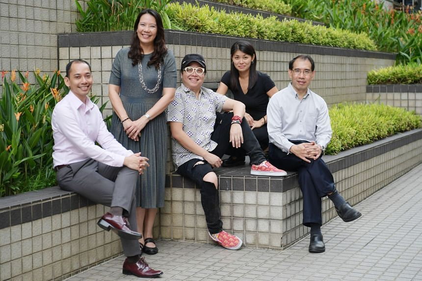 (From left) Senior teacher for music Abdul Hakim Mohd Udori, lead teacher in music Lim Hwee Sian, Mandopop songwriting duo Eric Ng and Xiaohan, and Dr Kelly Tang, senior academy officer for music at the Singapore Teachers' Academy for the Arts, are i