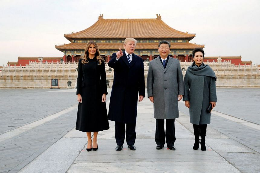 The first stop on US President Donald Trump's first state visit to Beijing was the Forbidden City.
