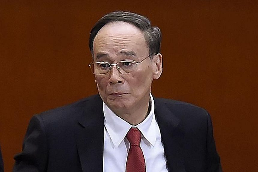 Mr Wang Qishan said political corruption includes the formation of special interest groups to try and seize power.
