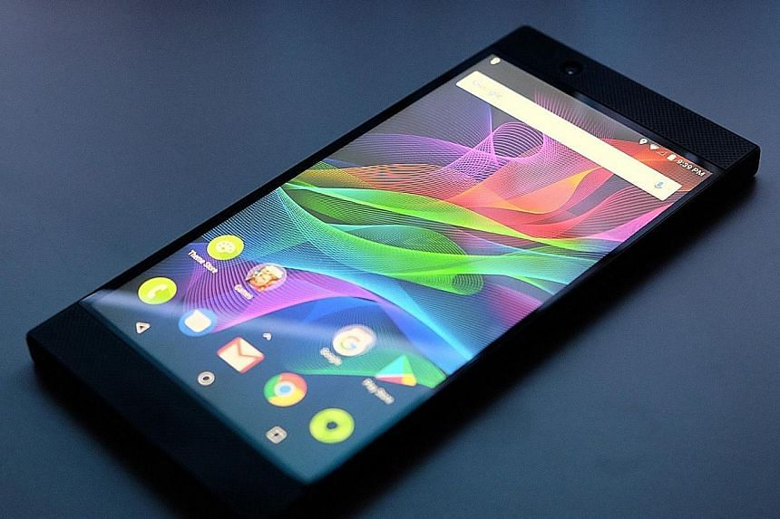 The Razer Phone may be a mite too wide for regular phone users, but gamers will welcome the stable grip it provides in landscape mode.
