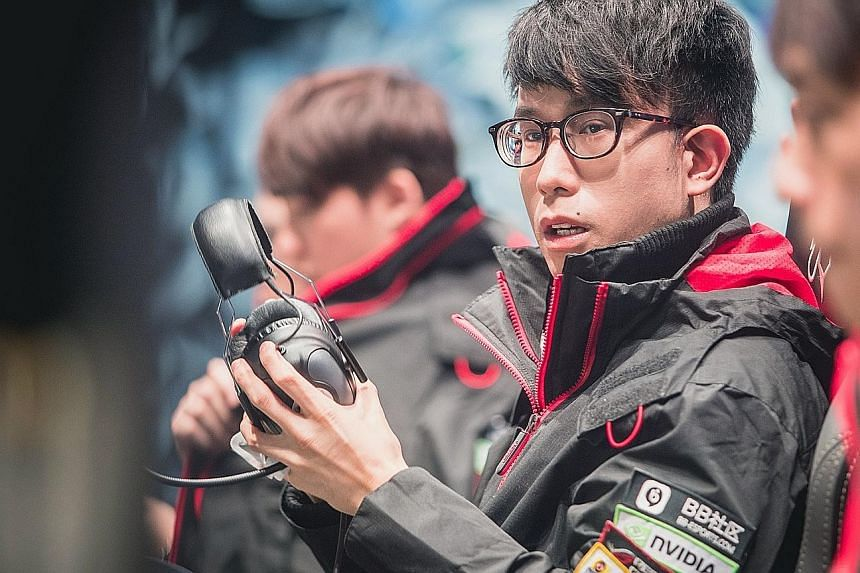 Mr Wong Xing Lei at the 2017 World Championship in Wuhan, China. He has been playing video games competitively for over a decade, and is now a member of Taiwanese squad ahq e-Sports Club.
