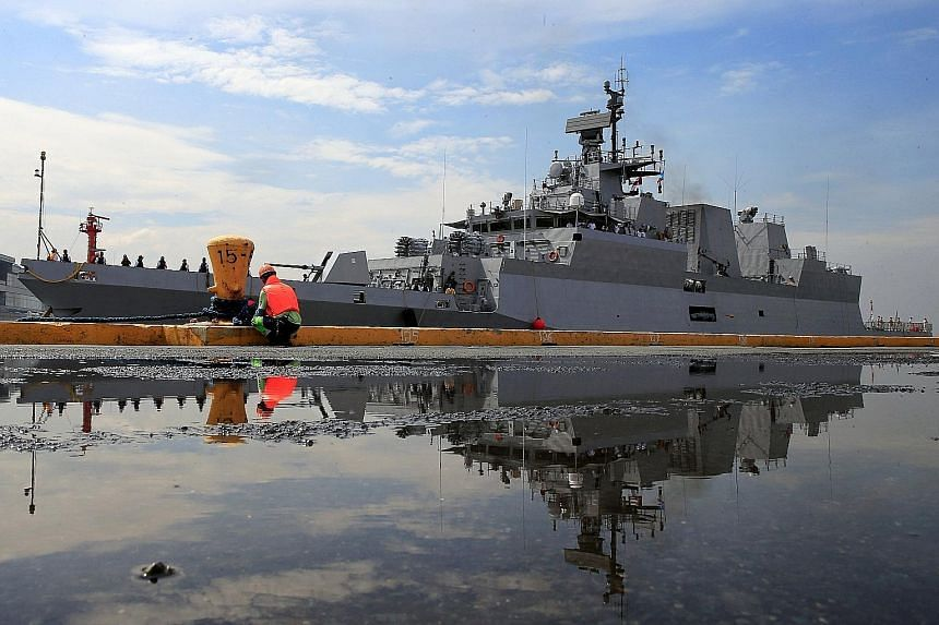 The Indian Navy vessel INS Kadmatt (F29) docking in Manila for a four-day goodwill visit last month as part of efforts to strengthen ties between India and the Philippines.