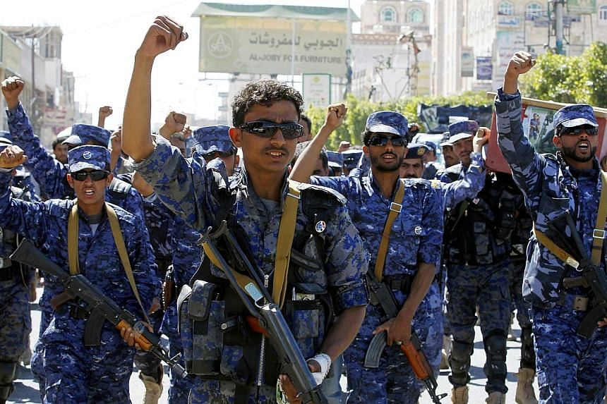 Iranian-backed Houthi rebels (above) have fought against the Saudi-led military coalition in Yemen since 2015.