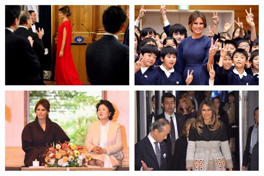 US President Donald Trump and First Lady Melania visited Japan and South Korea as part of a 12-day tour of Asia.