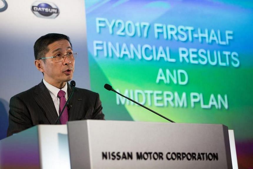"""Before presenting the figures to journalists, Nissan chief executive Hiroto Saikawa said, """"I would like to express my apologies to customers, partners, dealers and all the people who have been supporting Nissan."""""""