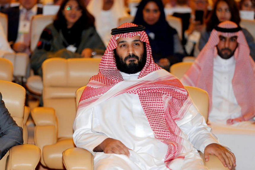 Saudi Crown Prince Mohammed bin Salman attends the Future Investment Initiative conference in Riyadh, Saudi Arabia on Oct 24, 2017.