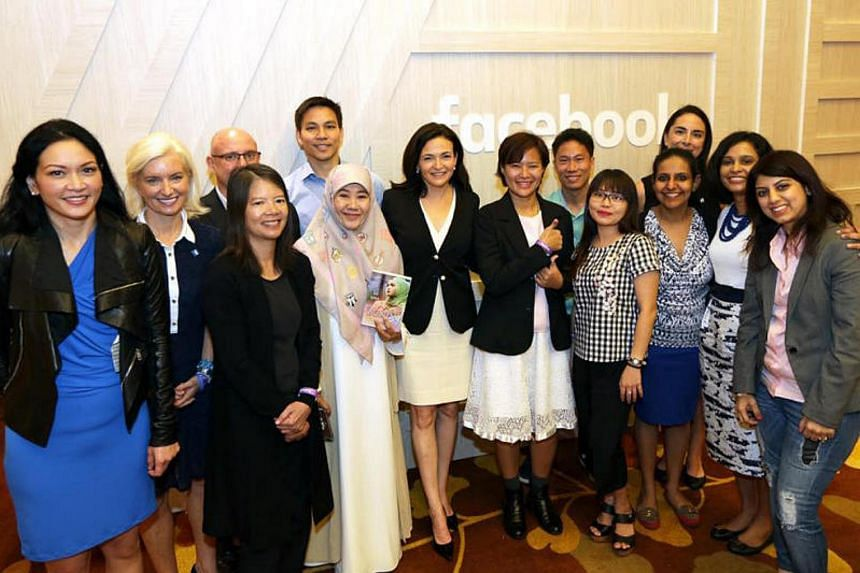 """Facebook's chief operating officer Sheryl Sandberg met eight """"regional community leaders"""" from Indonesia, India, the Philippines, Singapore and Thailand, during the first Asia-Pacific Facebook Community event organised by Facebook."""
