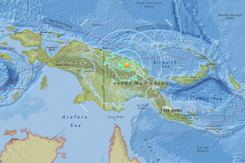 An earthquake of magnitude 6.5 struck the island of Papua New Guinea on Nov 8, 2017.