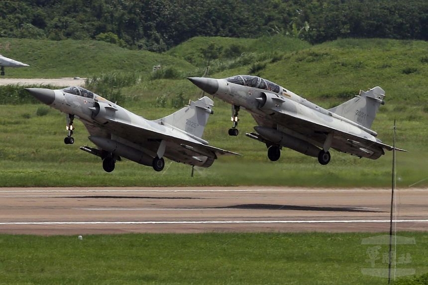 Taiwan's air force said it has grounded all its Mirage jets as it searched for a pilot who went missing while conducting a training mission in one of the French-made fighters.