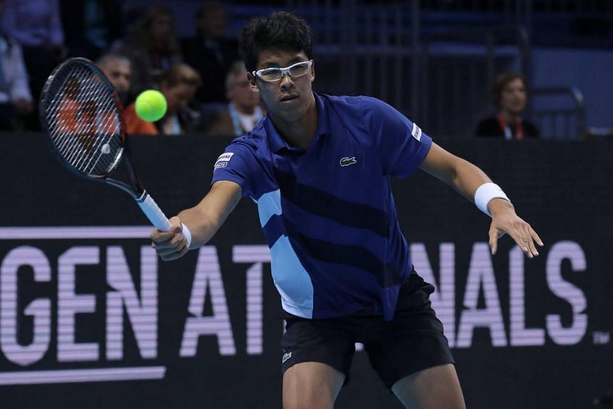 South Korean player Chung Hyeon at the ATP World Tour Finals.
