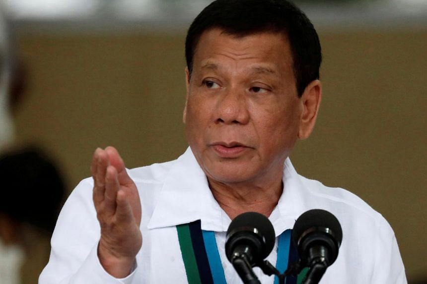 President Rodrigo Duterte ordered the withdrawal of a structure put up on a sandbar near an island the Philippines occupies in the South China Sea, after China complained about it.