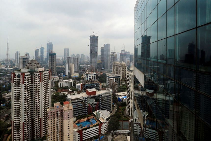 A general view of Mumbai's central financial district.