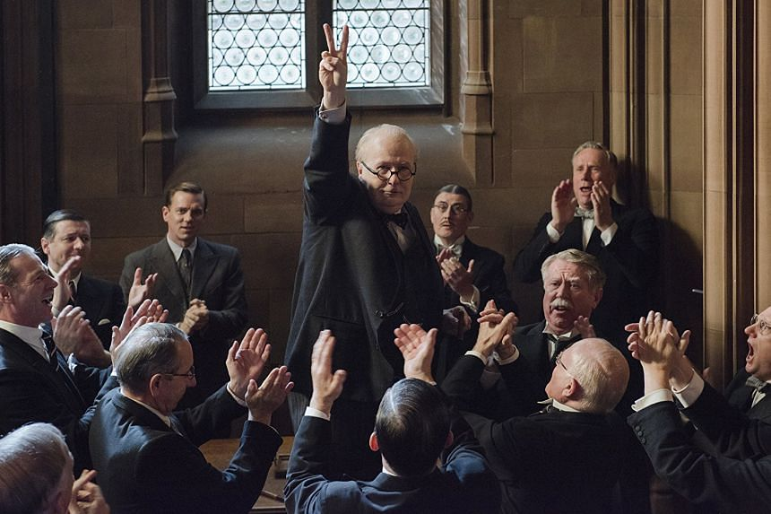 Gary Oldman plays wartime leader Winston Churchill in Darkest Hour, which opens in Singapore in January.