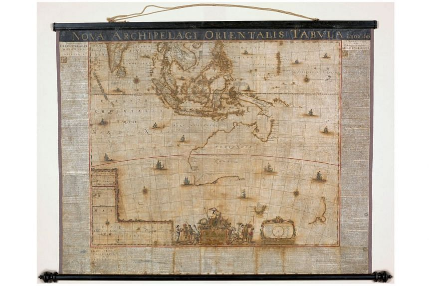 The map, which was created in 1663, took 21/2 years to restore.