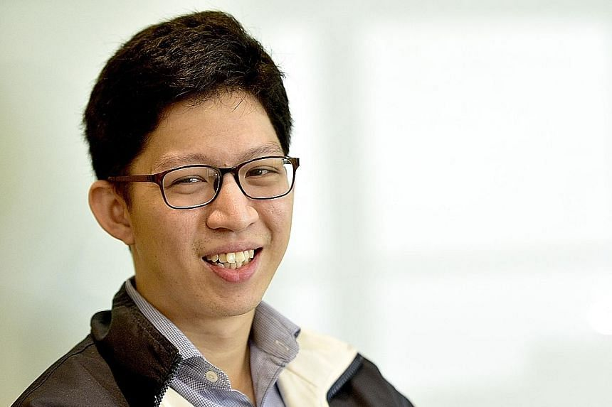 Mr Titus Seah heads the MOT-PSA truck platooning project, in which a truck with a driver leads a convoy of driverless trucks via wireless communications.