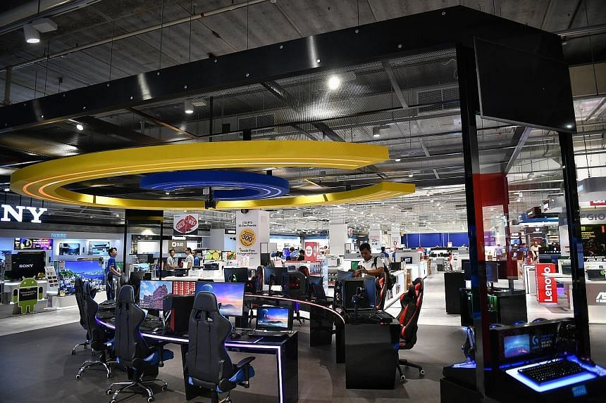 The new-look megastore at Courts Tampines features a gaming section on the third floor, where gaming competitions can be held.