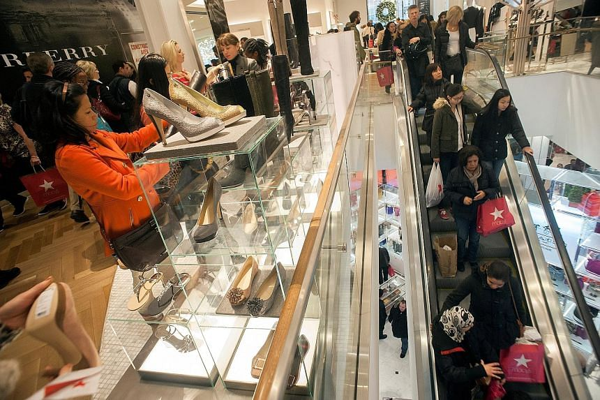 Department chains such as Macy's (left) have plans to keep inventory costs down and avoid having large piles of unsold stock after the holiday season.