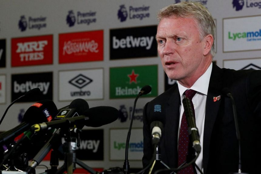 West Ham United manager David Moyes at a press conference on Nov 8, 2017.