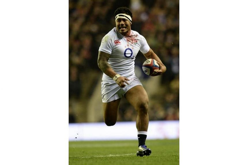 England's Manu Tuilagi during the Six Nations international rugby union match between England and France in south-west London on Feb 23, 2013.