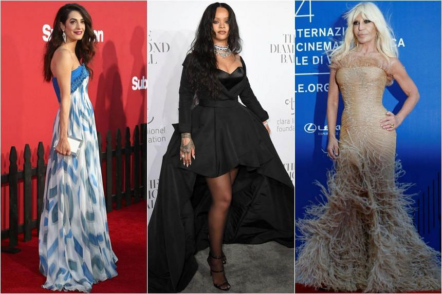(From left) Amal Clooney, Rihanna and Donatella Versace were named co-chairs of next year's Met Gala in New York.