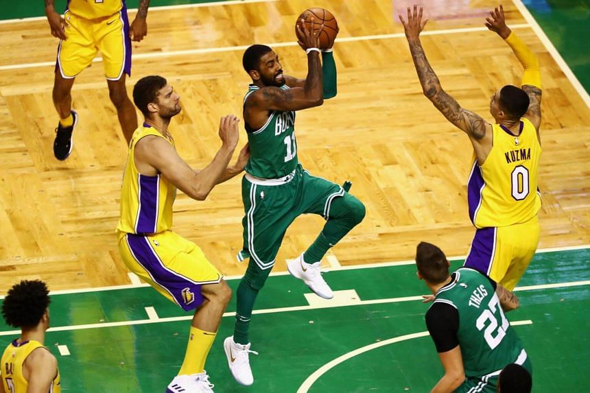 Boston's Kyrie Irving overcame a poor shooting night to finish with 19 points, six rebounds and five assists. Irving was just seven of 21 from the floor and missed all seven shots from three-point range.