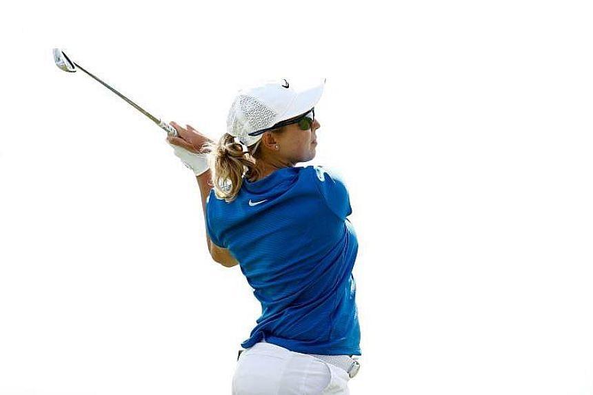 South Africa's Ashleigh Buhai shot a four-under-par 68 at Jian Lake Blue Bay Golf Club on the southern island of Hainan.
