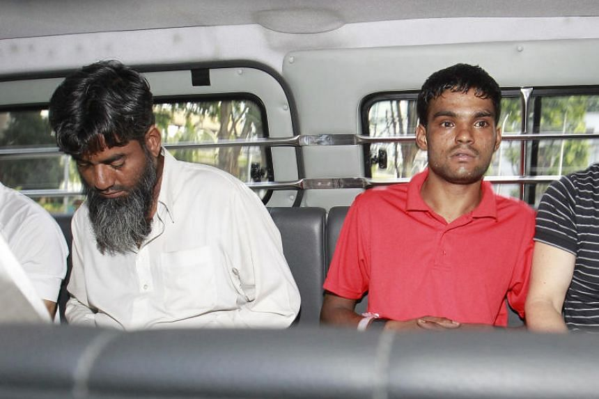 Rasheed Muhammad (left) and Ramzan Rizwan, both from Pakistan, were sentenced to hang on Feb 17, 2017, for murdering a compatriot to recover money that they had lost to him in a game of cards.