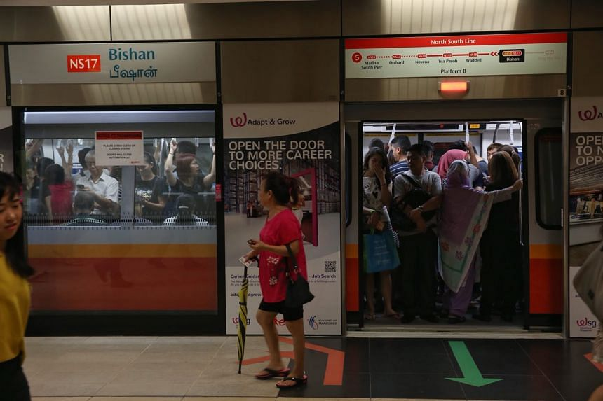 Train service went back to normal at Bishan MRT station at around 10.20am after several train faults were reported on the North-South Line on Thursday (Nov 9).