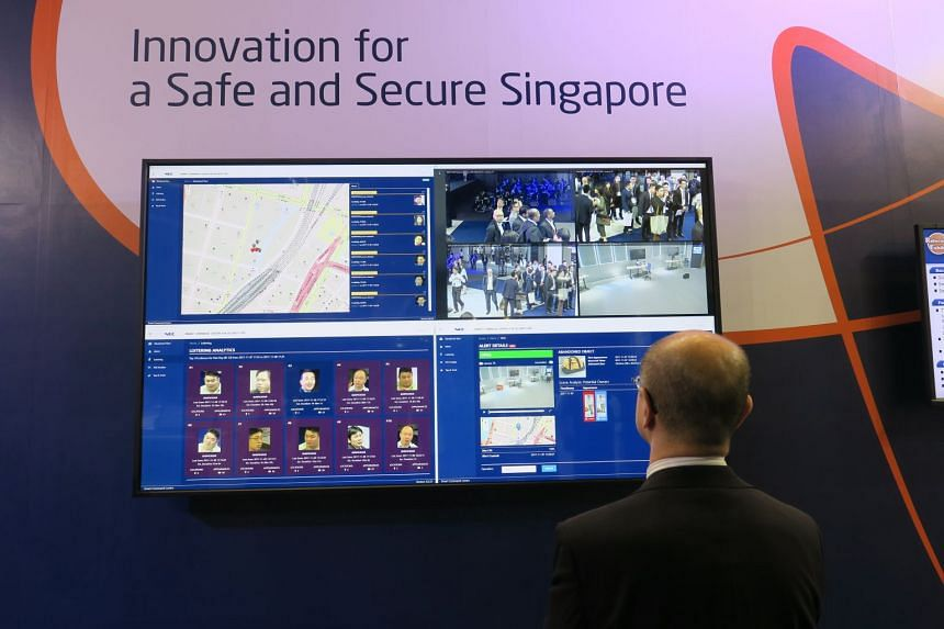 A simple mock-up of the Smart Command Centre by Singapore's Ministry of Home Affairs and Japanese technology giant NEC, aimed at fighting crime more efficiently and effectively.